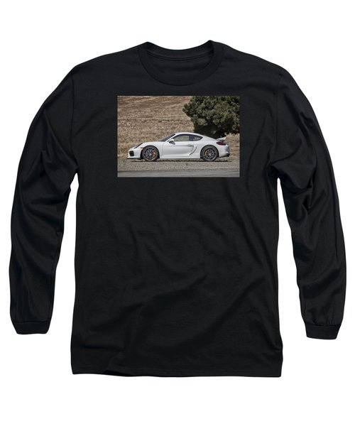 Porsche Cayman Gt4 Side Profile Long Sleeve T-Shirt