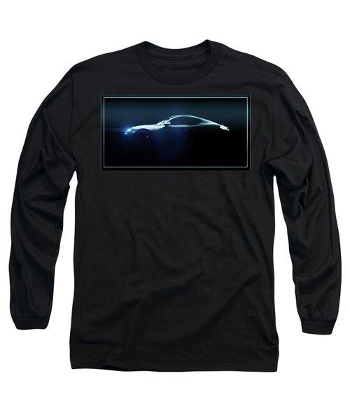 Long Sleeve T-Shirt featuring the mixed media Porsche Gt by Aaron Berg