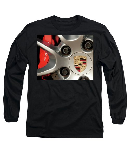 Porsche Wheel Detail #1 Long Sleeve T-Shirt