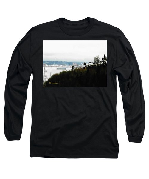 Long Sleeve T-Shirt featuring the photograph Port Of Tacoma At Ruston Wa by Sadie Reneau