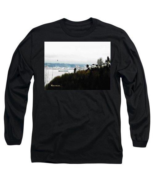 Port Of Tacoma At Ruston Wa Long Sleeve T-Shirt by Sadie Reneau