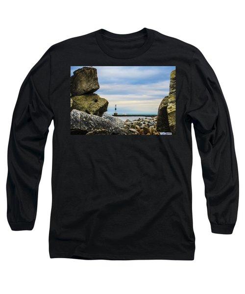 Long Sleeve T-Shirt featuring the photograph Port Washington Light 4 by Deborah Smolinske