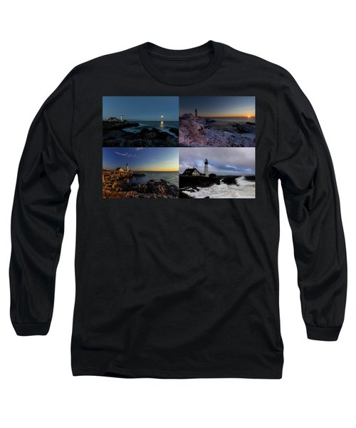 Portland Head Light Day Or Night Long Sleeve T-Shirt