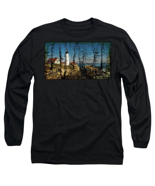 Portland Head Lighthouse 5 Long Sleeve T-Shirt by Sherman Perry