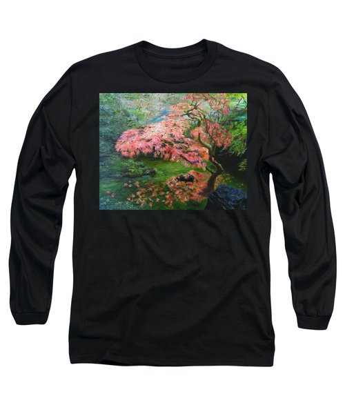Portland Japanese Maple Long Sleeve T-Shirt by LaVonne Hand