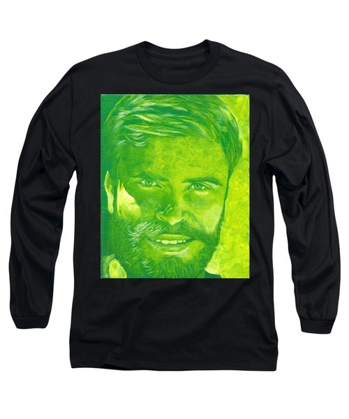 Portrait In Green Long Sleeve T-Shirt
