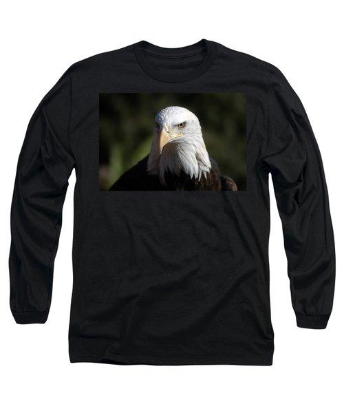 Portrait Of A Bald Eagle Long Sleeve T-Shirt