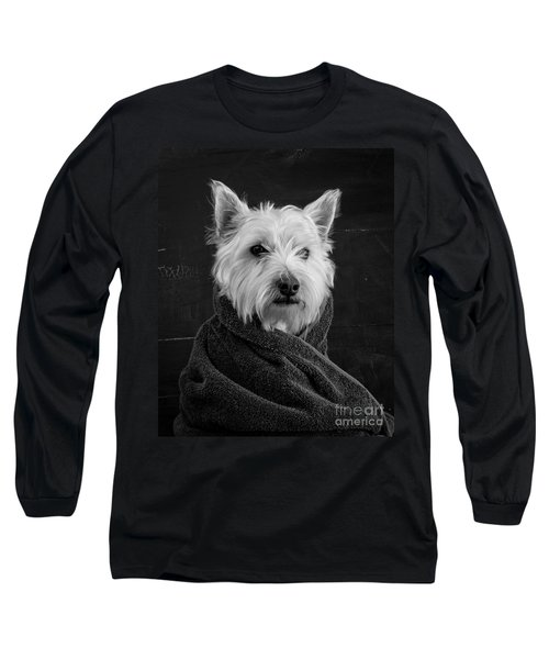 Portrait Of A Westie Dog Long Sleeve T-Shirt