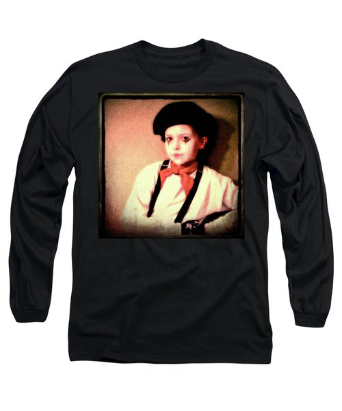 Portrait Of A Young Mime Long Sleeve T-Shirt