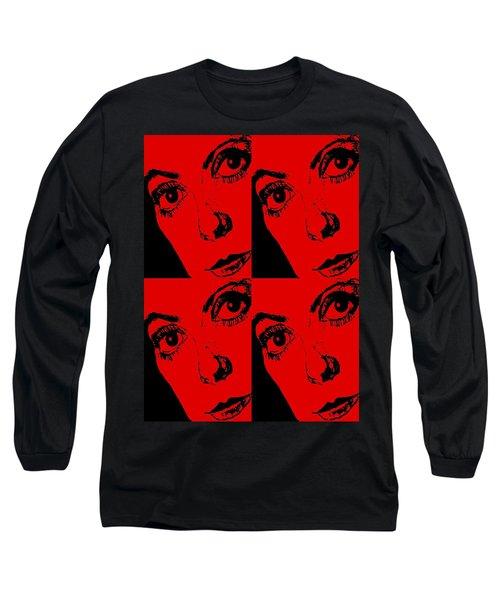 Portrait Of Catherine Pop Art Design Long Sleeve T-Shirt