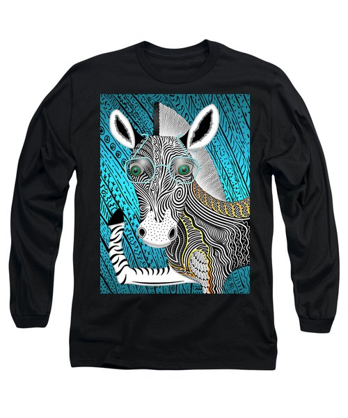 Portrait Of The Artist As A Young Zebra Long Sleeve T-Shirt