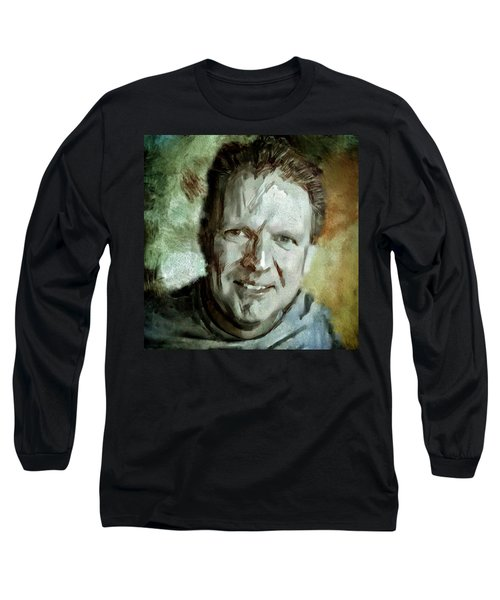 Portrait Painting Cinematographer Camera Operator Behind The Scenes Movie Tv Show Film Chicago Med Long Sleeve T-Shirt