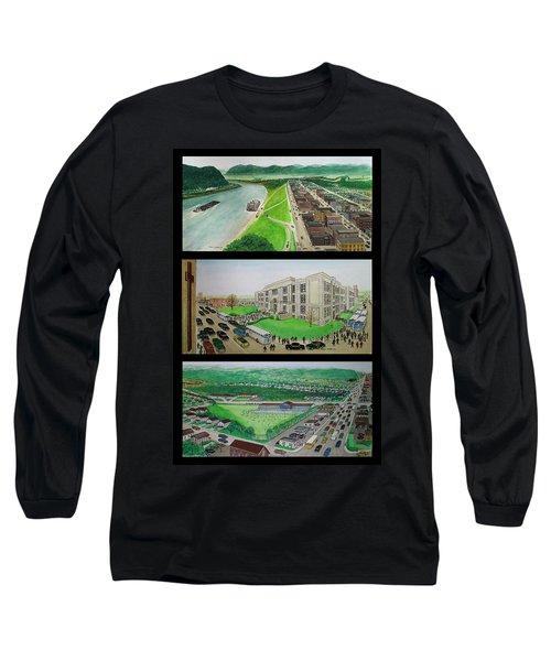 Portsmouth Ohio 1955 Long Sleeve T-Shirt by Frank Hunter