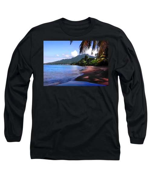 Portsmouth Shore On Dominica Filtered Long Sleeve T-Shirt