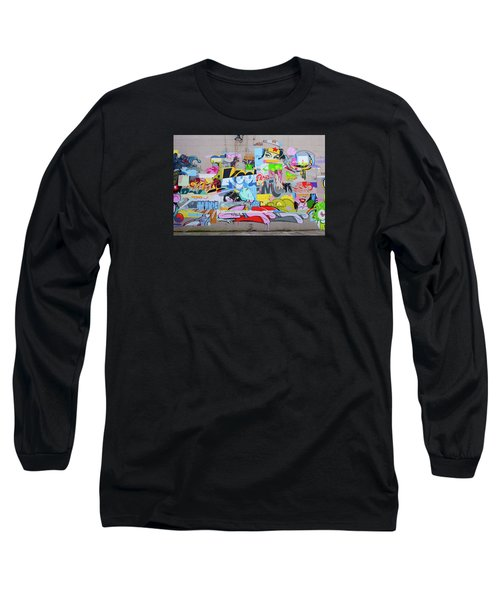 Long Sleeve T-Shirt featuring the photograph Pose Mural by Jean Haynes