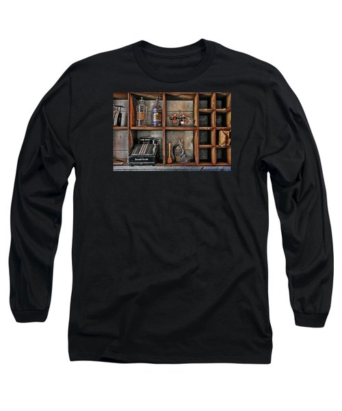 Post Office Long Sleeve T-Shirt by Ed Hall