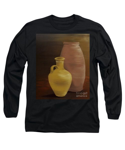 Long Sleeve T-Shirt featuring the painting Pottery by Annemeet Hasidi- van der Leij