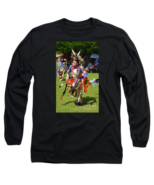 Long Sleeve T-Shirt featuring the photograph Pow Wow Warrior by Lew Davis