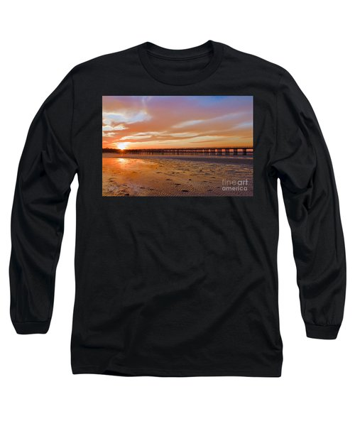Long Sleeve T-Shirt featuring the photograph Powder Point Bridge Duxbury by Amazing Jules