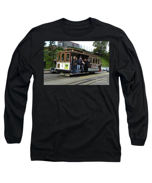 Long Sleeve T-Shirt featuring the photograph Powell And Market Street Trolley by Steven Spak