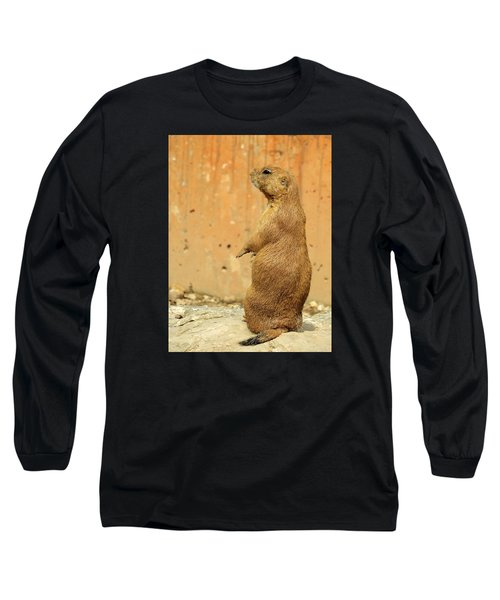 Prairie Dog Profile Long Sleeve T-Shirt by Robin Regan