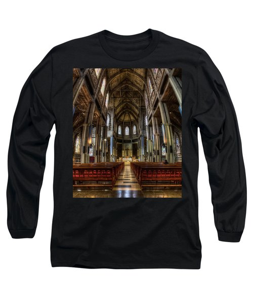 Our Lady Of Nahuel Huapi Cathedral In The Argentine Patagonia Long Sleeve T-Shirt
