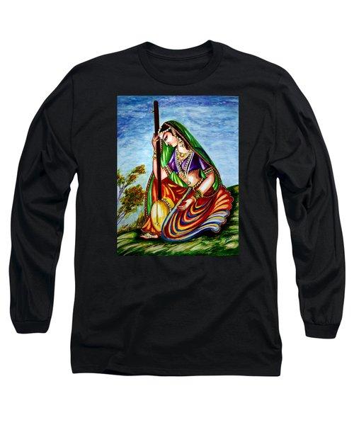 Krishna - Prayer Long Sleeve T-Shirt by Harsh Malik