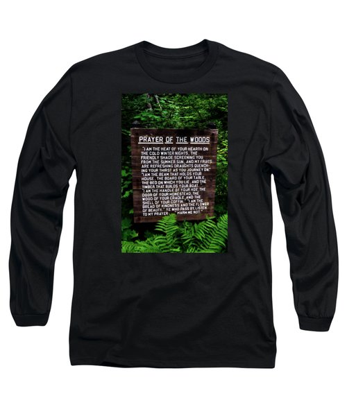 Prayer Of The Woods Long Sleeve T-Shirt by Michelle Calkins