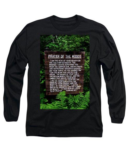 Prayer Of The Woods Long Sleeve T-Shirt