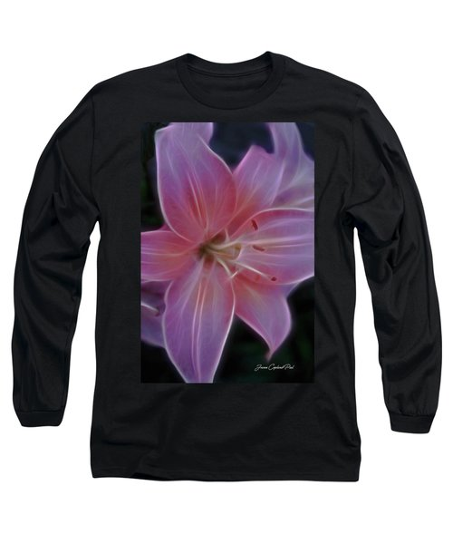 Precious Pink Lily Long Sleeve T-Shirt by Joann Copeland-Paul