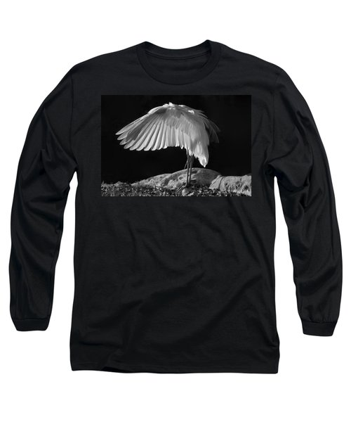 Preening Great Egret By H H Photography Of Florida Long Sleeve T-Shirt