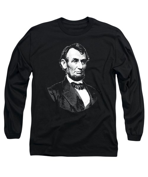 President Abraham Lincoln Graphic - Black And White Long Sleeve T-Shirt