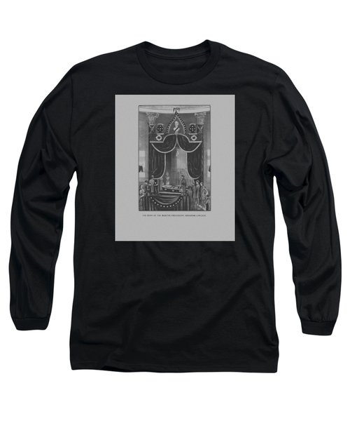 President Abraham Lincoln Lying In State Long Sleeve T-Shirt