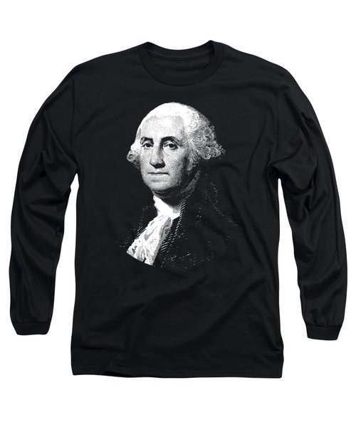 President George Washington Graphic  Long Sleeve T-Shirt by War Is Hell Store
