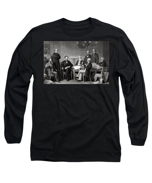 President Lincoln And His Cabinet Long Sleeve T-Shirt