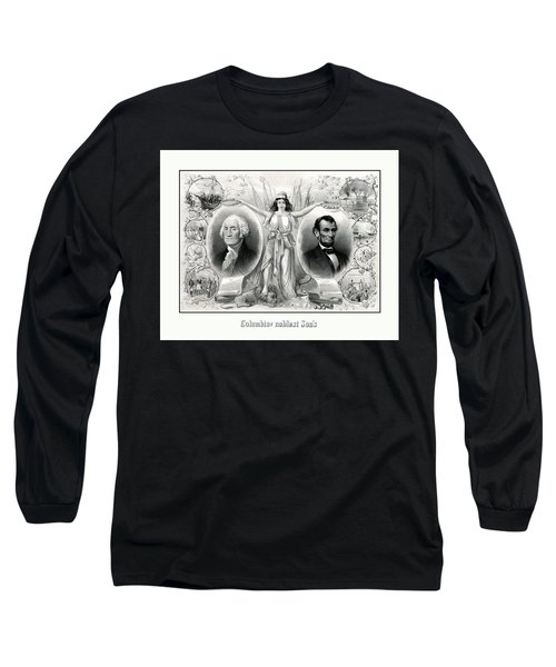 Presidents Washington And Lincoln Long Sleeve T-Shirt