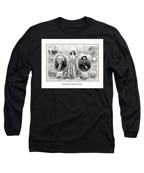 Presidents Washington And Lincoln Long Sleeve T-Shirt