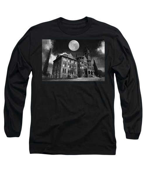 Long Sleeve T-Shirt featuring the digital art Preston Castle by Holly Ethan