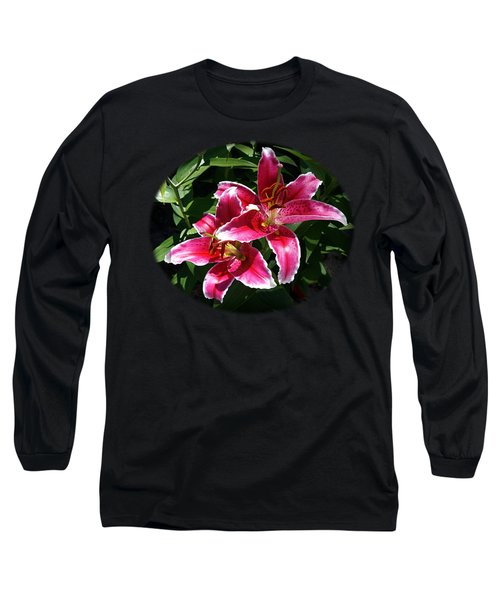 Pretty Lilies Long Sleeve T-Shirt by Nick Kloepping