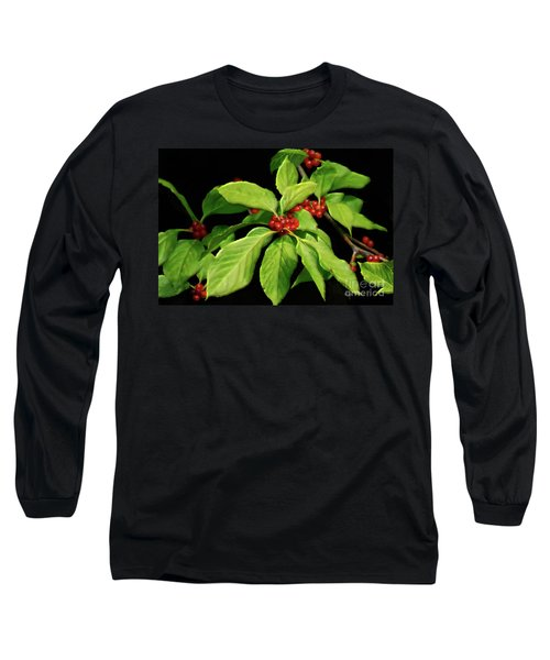 Long Sleeve T-Shirt featuring the photograph Pretty Little Red Berries by Lois Bryan
