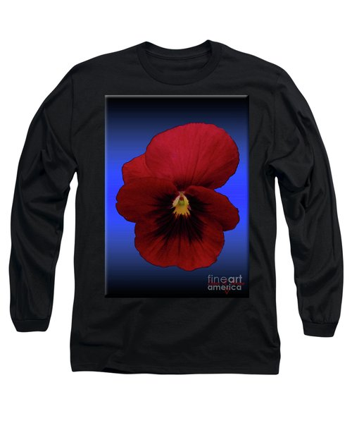 Long Sleeve T-Shirt featuring the photograph Pretty Pansy by Donna Brown