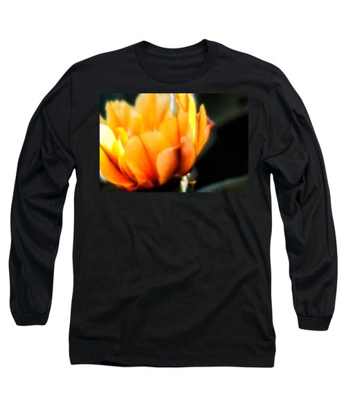 Long Sleeve T-Shirt featuring the photograph Prickly Pear Flower by Lynn Geoffroy
