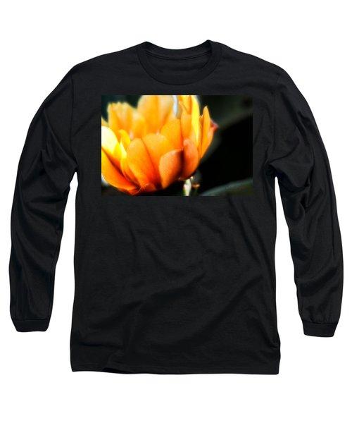 Prickly Pear Flower Long Sleeve T-Shirt by Lynn Geoffroy