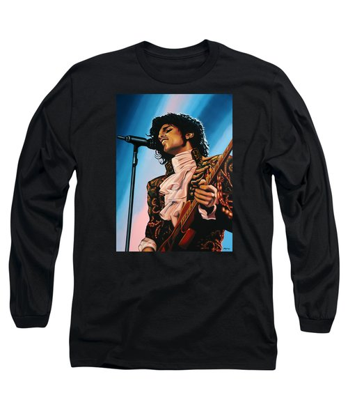 Prince Painting Long Sleeve T-Shirt by Paul Meijering
