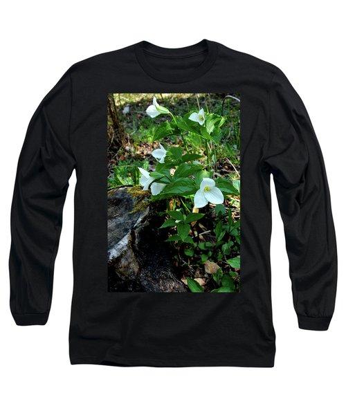 Long Sleeve T-Shirt featuring the photograph Protected Wild Trillium  by LeeAnn McLaneGoetz McLaneGoetzStudioLLCcom