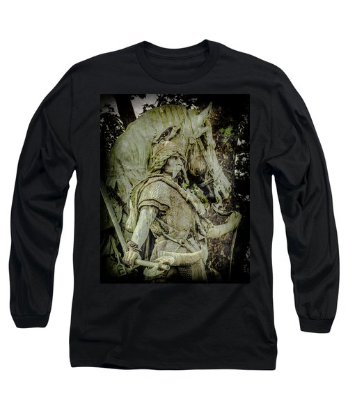 Paris, France - Proud Warrior And The Pigeon Long Sleeve T-Shirt