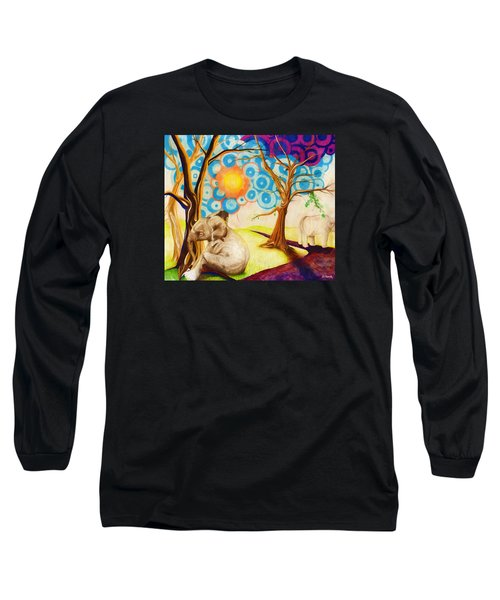 Psychedelic Elephants Long Sleeve T-Shirt