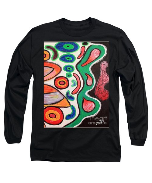Long Sleeve T-Shirt featuring the painting Psychedelic Summer by Jolanta Anna Karolska
