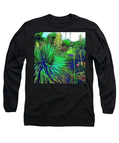 Psychedelic Yuccas. #plant #yucca Long Sleeve T-Shirt
