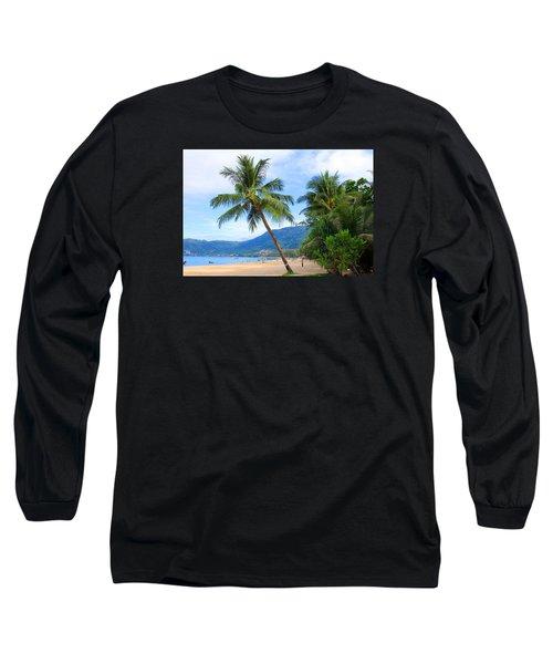Phuket Patong Beach Long Sleeve T-Shirt by Mark Ashkenazi